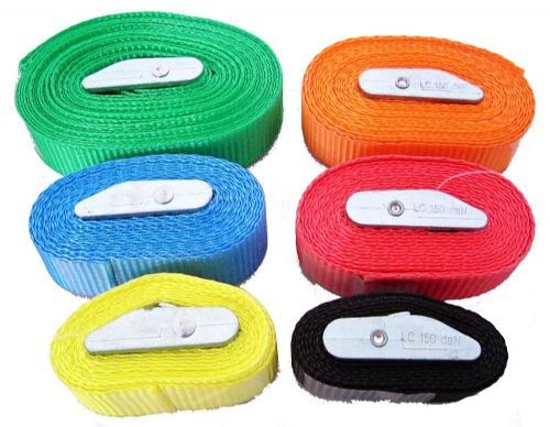 Tie Down Colour Coded Utility Straps - Different Sizes Available